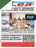 Periódico Lea Lunes 18 de Junio Del 2018