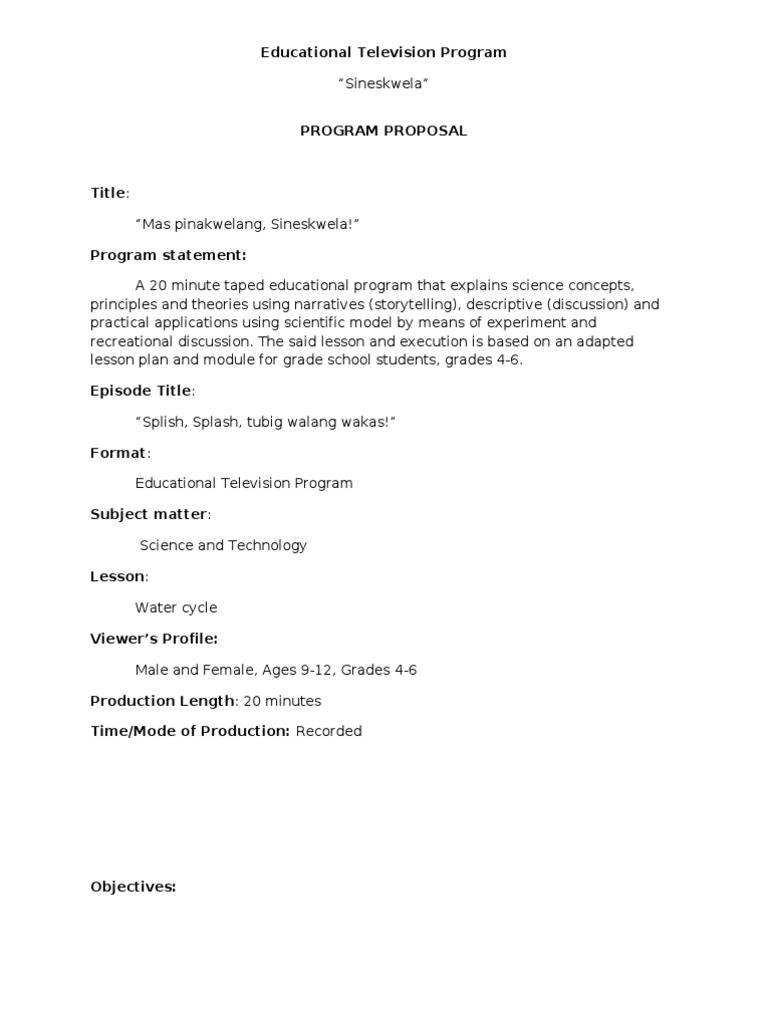 Tv Show Proposal Template from imgv2-2-f.scribdassets.com