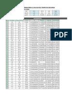 Programa en Excel de Vaciado de Tanques