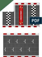 Plantillas Juego de Mesa de Mario Kart