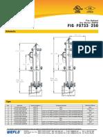 Fire Hydrant,Dry Barrel,250PSI FIG.F0733 250
