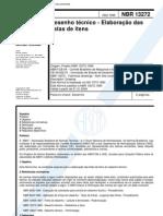 NBR 13272 - Desenho Tecnico - Elaboracao Das Listas de Itens