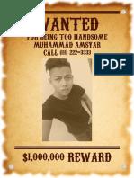 WANTED Muhammad Amsyar