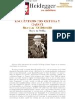 Martin Haidegger-Encuentros Con Ortega y Gasset