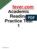 Ielts Fever Academic Reading Practice Test 1 PDF