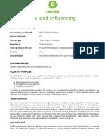 Program & Influencing Manager Zimbabwe