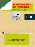 Elaboracion Del Plan de Negocios