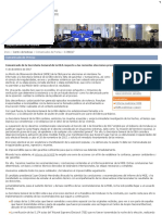 Comunicado de la Secretaría General de la OEA respecto a las recientes elecciones presidenciales en