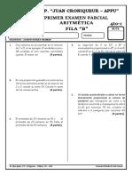 1 parcial 4°- 1 secundaria aritmetica fila B (2017)