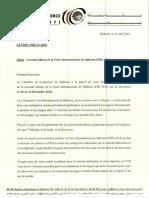 Lettre Circulaire - FID 2018