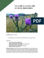 flòrula de La Vall de Sant Just Desvern 2017-2018 (Catalunya)
