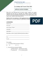 Application Form Animato PS BM 27.1.14