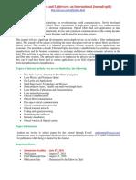 Integrated Optics and Lightwave an International Journal Optlj