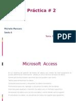 Microsoft Access Practica 2
