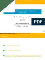 Ecuaciones diferenciales metodo de bernulli