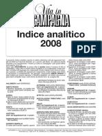 Vita in campagna - Indice analitico 2008