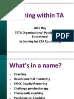 Coaching Within TA - Prezentacja (Hay J.)