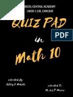 Personal Quiz Pad