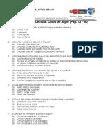 Control de Lectura 5 - Ojitos de Ángel - 3ero