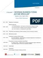 Agenda Forum in Batum and Tbilisi