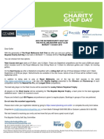 Bayside Charity Golf Day Invitation and Entry Form