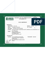 Appendix P. USGS Certificate of Appreciation