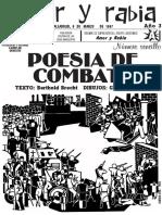 """Revista Amor y Rabia Nr. 34, """"Poesía de combate"""""""