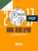 Devex 2017 Hiring Trends Report