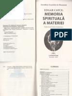 Edgar Cayce Memoria Spirituala a Materiei - Dorothee Koechlin