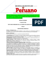 Decreto Supremo Licencias de Funcionamiento