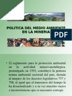 Medio Ambiente  en la minería