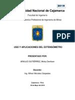 Informe de Extensómetro y Ejercicio Propuesto