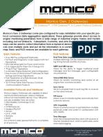 Monico Gen. 2 Gateway Datasheet