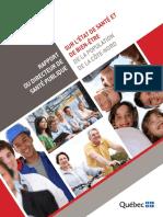 Rapport du directeur de la santé publique sur la santé et le bien-être de la population de la Côte-Nord