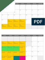 Calendario 2018 Mensual JULIO BENITES