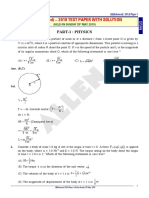 Jee Advanced 2018 Paper 1 With Solutions Physics