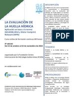 """3º Curso online """"La evaluación de la huella hídrica"""""""