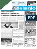 Edición Impresa El Siglo 18-06-2018