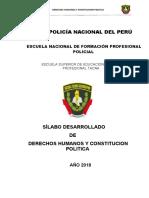 Silabus de Derechos Humanos y Constitucion Politica Ok