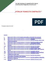 0. Lista Reglementari Tehnice 01.01.2016 Actualizat 17.05.2016