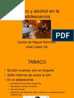 Tabaco Alcohol Adolescencia Miguel Sanchez
