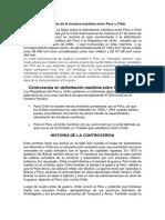 Delimitación de La Frontera Marítima Entre Perú y Chile