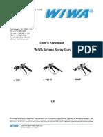WIWA Airless Spray Guns