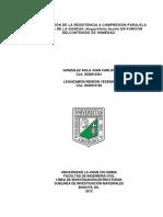 Determinacion Resistencia Compresion Paralela Fibra Guadua Angustifolia Kunth