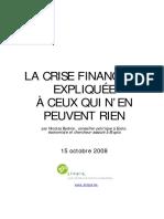 Bednar Crise Financiere