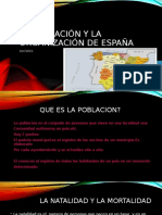 La Población y La Organización de España