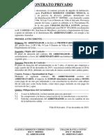 Contrato Privado Ubaldo Davila Guivin