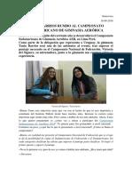 Entrevista Con Tania Barrios Y Victoria Del Signore