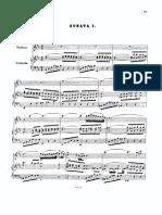 Sonata 1 Violín Piano Bach