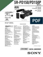 Dsr Pd150dsr Pd150p Service Manual